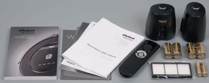 Комплектация iRobot Roomba 880